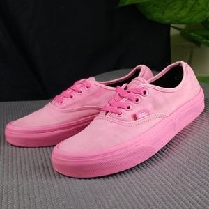 Vans Lowtop Hot Pink Womens 6 Preowned
